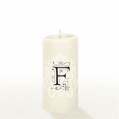 Lucid Liquid Candles - 3x6 Florentine F Natural Pillar Candle