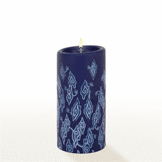 Lucid Liquid Candles - 3x6 Indigo Clouds on Indigo Pillar Candle