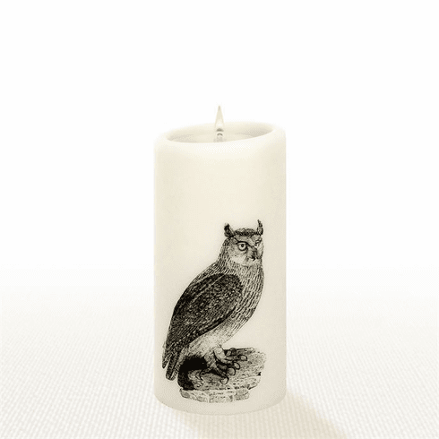 Lucid Liquid Candles -  3x6 Owl Natural Pillar Candle