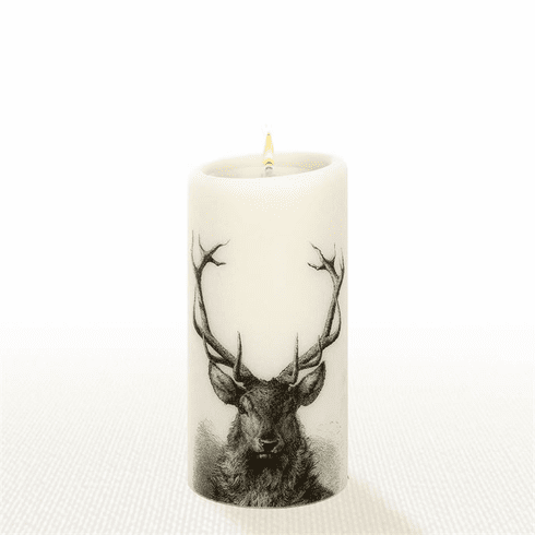 Lucid Liquid Candles -  3x6 Stag Natural Pillar Candle