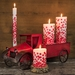 Lucid Liquid Candles Dotty Red 1x11 Dinner Candle