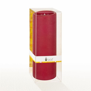 Lucid Liquid Candles - Ruby 3x8 Pillar Candle