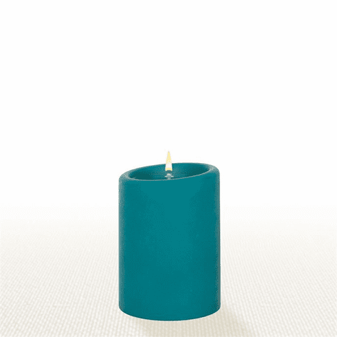 Lucid Liquid Candles - Teal 3x4 Pillar Candle