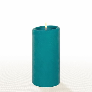 Lucid Liquid Candles - Teal 3x6 Pillar Candle