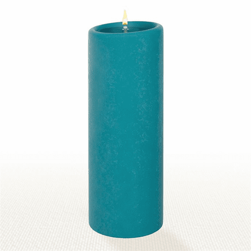 Lucid Liquid Candles - Teal 3x8 Pillar Candle
