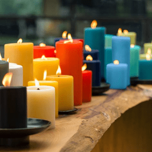 Lucid Solid Color Pillar Candle Collection