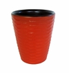 Mango Wood Utensil Holder Honeycomb - Tangerine