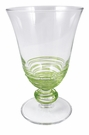 Mariposa Applique Tulip Glass - Green