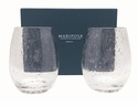 Mariposa Bellini Stemless Red Wine Glasses - Set of 2 in Gift Box