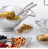 Mariposa Metal String of Pearls Serveware Collection
