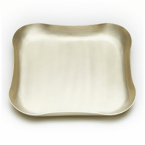 Mary Jurek Blossom Free Form Square Champagne Gold Tray