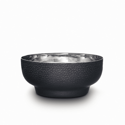 Mary Jurek Northstar Round Bowl Textured Black Nickel Plate 6""