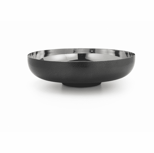 "Mary Jurek Northstar Round Bowl with Textured Black Nickel 11""Dia x 3"" H"