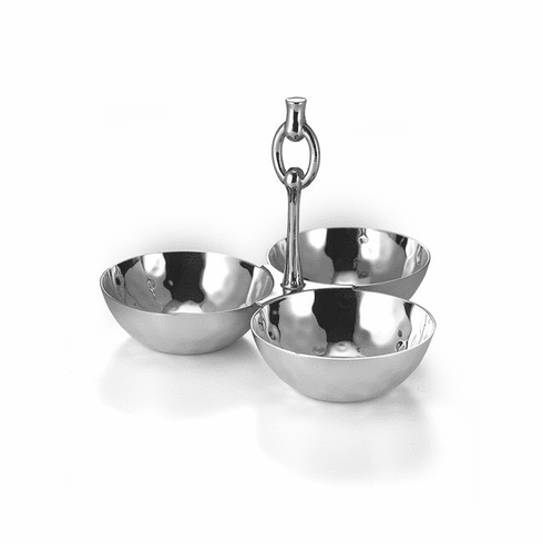 "Mary Jurek Omega 3-Bowl Snack Set with Ring 5.5"" x 6.75"""