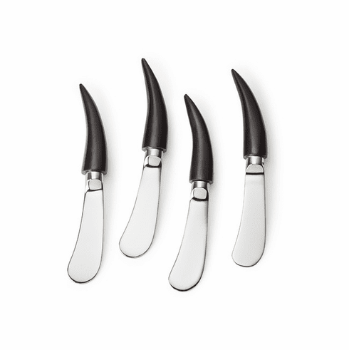 """Mary Jurek Orion Canape Spreader 4 pc Set with Box 5.5"""" L"""