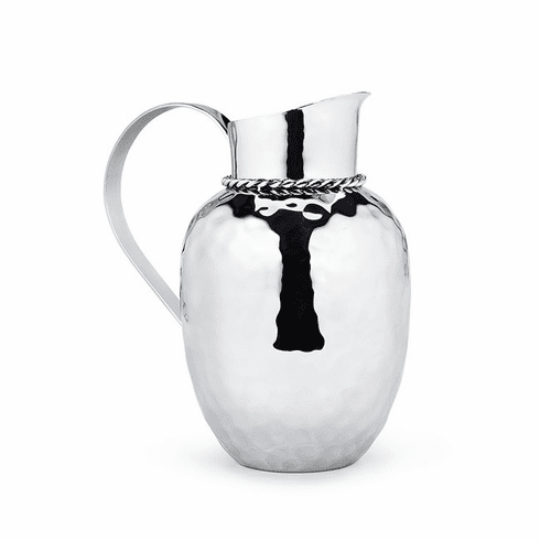 """Mary Jurek Paloma Water Pitcher with Braided Wire 9.5"""" H"""