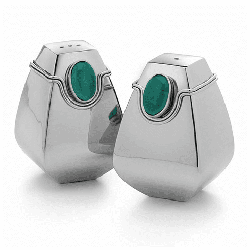 Mary Jurek Santa Fe Salt & Pepper with Green Onyx Stone