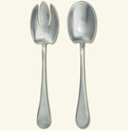Match Italian Pewter Aria Salad Set