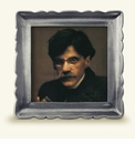 Match Italian Pewter Carretti Square Frame Medium