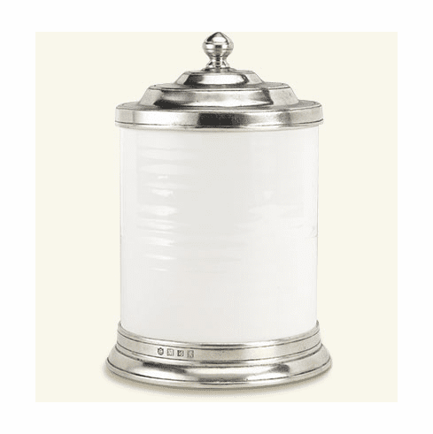 Match Italian Pewter Convivio Canister Small White