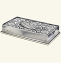 Match Italian Pewter Dinner Napkin/Guest Towel Box