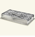 Match Italian Pewter Dinner Napkin/Guest Towel Box With Key