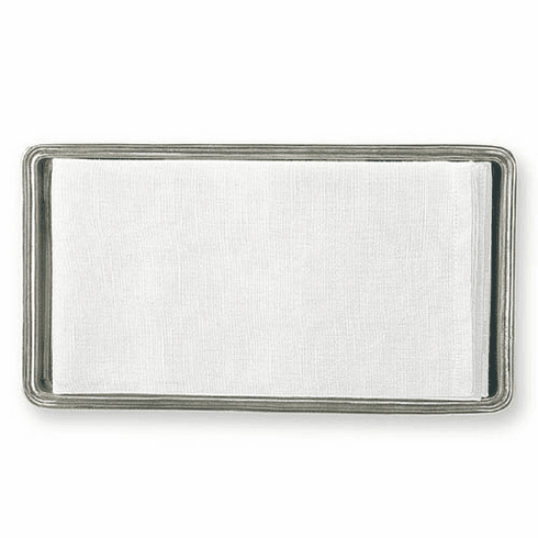 Match Italian Pewter Guest Towel Tray