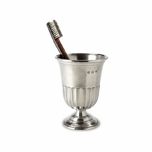 Match Italian Pewter Impero Toothbrush Cup