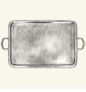 Match Italian Pewter Lago Rectangle Tray With Handles Extra Large