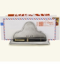 Match Italian Pewter Letter Stand With Pen Rest