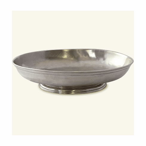 Match Italian Pewter Low Oval Footed Centerpiece