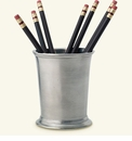 Match Italian Pewter Lugano Pencil/Toothbrush Cup