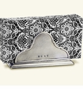 Match Italian Pewter Napkin Holder With Dinner Napkins