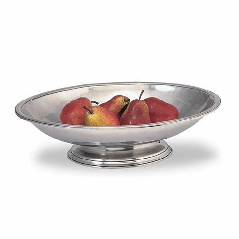 Match Italian Pewter Oval Footed Centerpiece