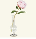 Match Italian Pewter Pewter Footed Glass Vase