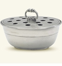 Match Italian Pewter Potpourri Bowl With Cover