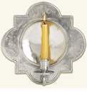 Match Italian Pewter Quatrefoil Wall Sconce
