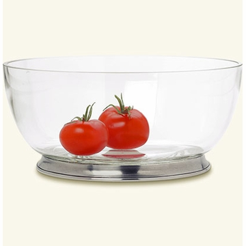 Match Italian Pewter Round Crystal Bowl Extra Large