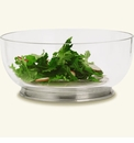 Match Italian Pewter Round Crystal Bowl Medium Salad