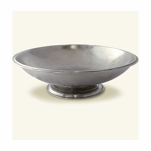 Match Italian Pewter Round Footed Centerpiece Large