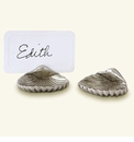 Match Italian Pewter Shell Place Card Holder