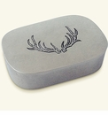 Match Italian Pewter Simple Covered Antler Box