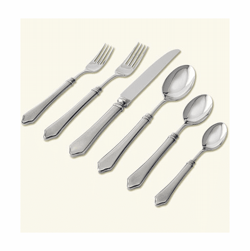 Match Italian Pewter Violetta 6Pc With Forged Blade