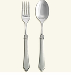 Match Italian Pewter Violetta Serving Fork & Spoon