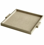 Medium Brooklyn Shagreen Leather Tray by Cyan Design