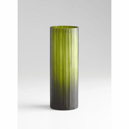 Medium Cee Lo Green Glass Vase by Cyan Design
