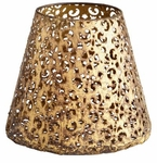 Medium Filigree Antiqued Gold Container by Cyan Design