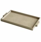 Medium Melrose Shagreen Leather Tray by Cyan Design