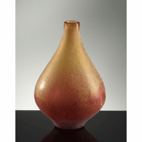 Medium Vizio Yellow Orange Glass Vase by Cyan Design