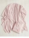 Mer Sea Charleston Cotton Cashmere Wrap With Bag-Blush Pink